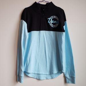Justice Girls Dance Half Zip Pullover Sweatshirt